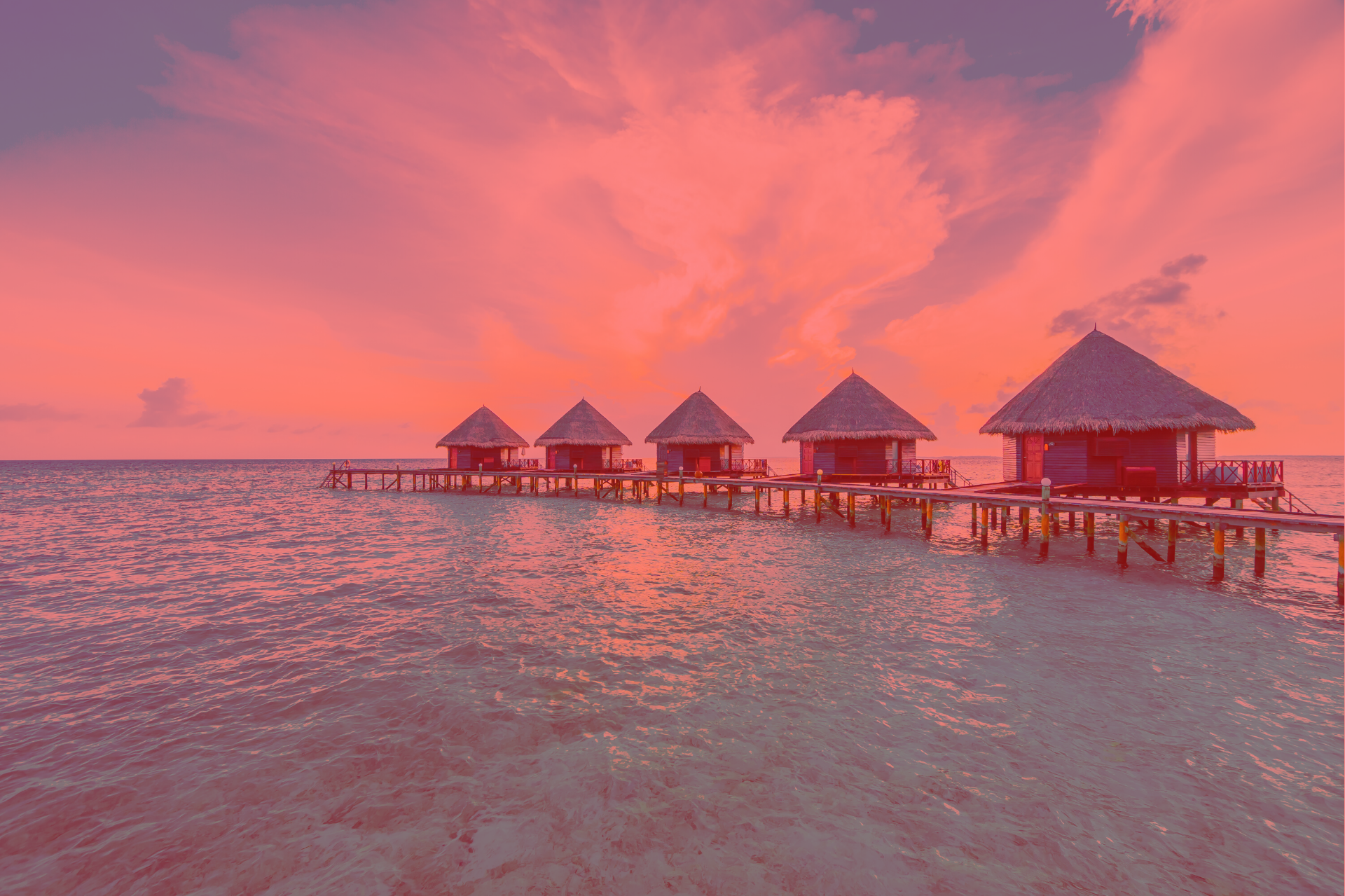 Over-Water Bungalows- red