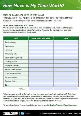 Value of Time Worksheet